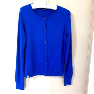 THEORY Electric Blue Cardigan Size M
